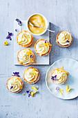White chocolate lemon mousse cups