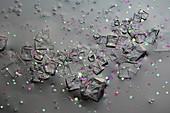 Sea salt, polarised light micrograph