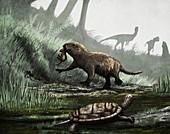 Kayenta formation fauna, illustration
