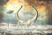 Mnyamawamtuka dinosaurs, illustration