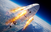 SpaceX Crew Dragon in-flight abort test, illustration