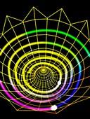 Axion field at the big bang, illustration