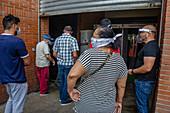 Market queue during Covid-19 outbreak
