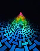 Tiled matrix abstract illustration