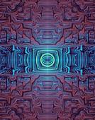 Symmetrical fractal abstract illustration