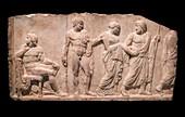 Seizure of Briseis from Achilles.