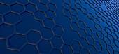 Hexagonal concept background.