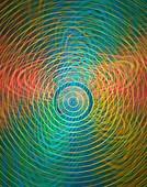 Superstrings or orbital paths.