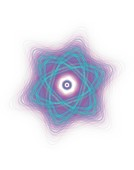 Atomic Nucleus illustration.