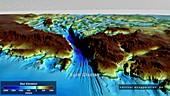 Seabed topography beneath Byrd Glacier, Antarctica
