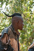 Himba man with traditional hair