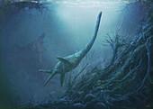 Vegasaurus plesiosaur, illustration