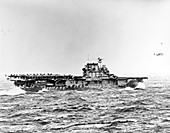 Aircraft carrier USS Hornet, Doolittle Raid, 1942