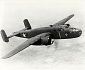 B-25 Mitchell bomber during the Doolittle Raid, 1942