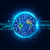 Coronavirus pandemic, conceptual illustration