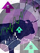 Dollar bull market, illustration