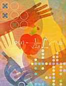 Science and maths education, illustration