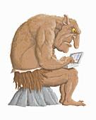 Internet troll, illustration