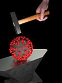 Coronavirus war, conceptual illustration