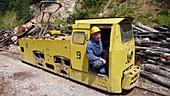 Coal mine train