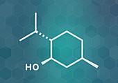 Menthol molecule, illustration