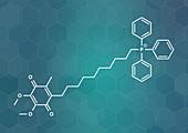 Mitoquinone molecule, illustration