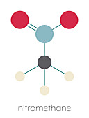 Nitromethane nitro fuel molecule, illustration
