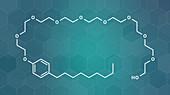 Nonoxynol-9 spermicide molecule, illustration