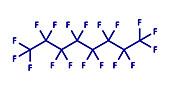 Perfluorooctane molecule, illustration