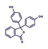 Phenolphthalein indicator molecule, illustration