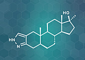 Stanozolol anabolic steroid drug, illustration