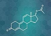 Trenbolone acetate cattle growth promoter, illustration