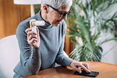 Spirometry using digital spirometer with smart phone app