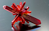 Red crystalline mineral