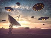 Alien invasion, illustration