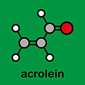 Acrolein molecule, illustration