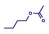 Butyl acetate molecule, illustration