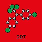 DDT molecule, illustration