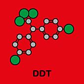 DDT molecule, illustration