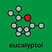 Eucalyptol eucalyptus oil molecule, illustration