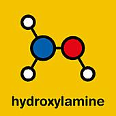 Hydroxylamine molecule, illustration