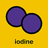 Iodine molecule, illustration
