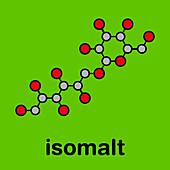 Isomalt sugar substitute molecule, illustration