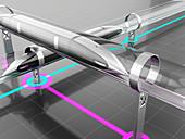 Futuristic transport system, illustration