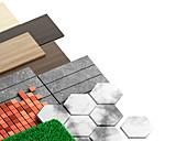 Flooring materials, illustration