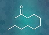 Methyl nonyl ketone insect repellent, illustration