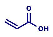 Acrylic acid molecule, illustration
