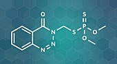 Azinphos-methyl organophosphate insecticide, illustration