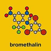 Bromethalin rodenticide molecule, illustration