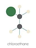 Chloroethane local anaesthetic molecule, illustration